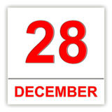 December 28. Day on the calendar. Royalty Free Stock Images