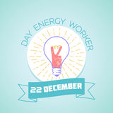 22 December day energy worker Royalty Free Stock Image