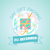 30 December  Day gift packing Royalty Free Stock Image