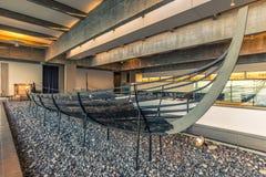 04 december, 2016: De Overblijfselen van Viking-schip binnen Viking Stock Foto