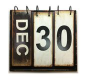 December 30. With vintage calendar on white background vector illustration