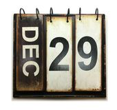 December 29. With vintage calendar on white background royalty free illustration