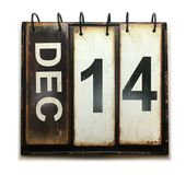 December 14. With vintage calendar on white background royalty free illustration