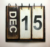 December 15. With vintage calendar royalty free stock photography