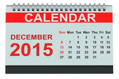 December 2015 desk calendar Stock Images