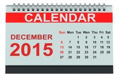 December 2015 desk calendar Stock Images