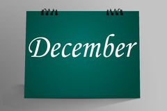 December in Desktop Mock up. Last Month December in Desktop Mock up Royalty Free Stock Images