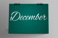 December in Desktop Mock up. Last Month December in Desktop Mock up Stock Photos
