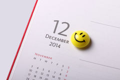 December 2014 Royalty Free Stock Photos