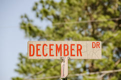 December Dr Sign Royaltyfri Bild