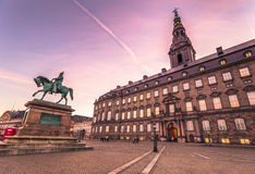 December 02, 2016: Facade of Christianborg palace in Copenhagen, Stock Photography
