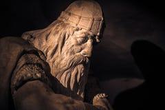 December 03, 2016: Face of Holger Danske inside Kronborg castle, Stock Photos