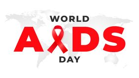 1 of December is the global WORLD AIDS DAY. Background with red awareness ribbon.  vector illustration
