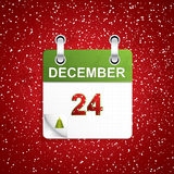 December holiday calendar. With Christmas decoration.Vector Royalty Free Stock Images