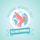 10 December Human Rights Day. Calendar for each day on December 10. Greeting card. Holiday - Human Rights Day. Icon in the linear style stock illustration