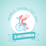3 december International Day of Disabled Persons. Calendar for each day on december 3. Greeting card. Holiday - World Disabilities day. Icon in the linear style Stock Image