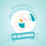 19 December International Day to Assist the Poor Royalty Free Stock Image