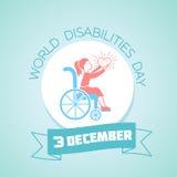 3 december internationell dag av rörelsehindrade personer stock illustrationer