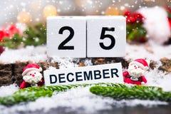 25 December, Kerstmisdag Stock Afbeelding