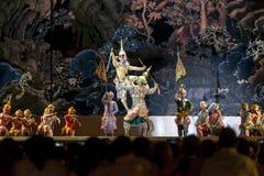 12 december 2015, Khon är dansdramat av thailändskt klassiskt maskerat, Arkivbilder