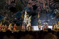 12 december 2015, Khon är dansdramat av thailändskt klassiskt maskerat, Fotografering för Bildbyråer