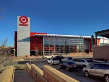 Multistory Target store, glass facade royalty free stock photo
