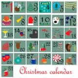 December-maand Tijdschema Stock Afbeeldingen