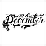 December& x27; mesi di s che segnano vettore con lettere Immagini Stock Libere da Diritti