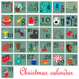 December month. Calendar. December - Christmas month. EPS 10 Stock Images