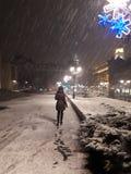 December-nacht in Midden-Europa Royalty-vrije Stock Afbeeldingen