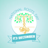 23 December National Roots Day Royalty Free Stock Photography