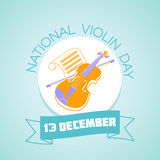 13 December National Violin Day Stock Images
