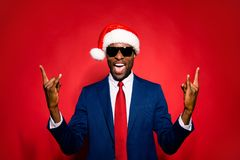 December noel eve merry christmastime event. Stylish trendy suit stock photography