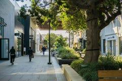 December 7, 2017 Palo Alto / CA / USA - Walking through the open air Stanford shopping center, San Francisco bay area royalty free stock image