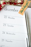 December planner Royalty Free Stock Photo