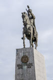 04 December 2015 Ploiesti Rumänien, staty av Michael indiankrigaren Fotografering för Bildbyråer