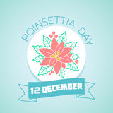 12 december Poinsettia Day Stock Image