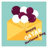 18 December. Qatar National Day card Stock Images
