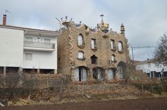 December 29, 2013. Rillo De Gallo. Guadalajara, Castilla La Mancha, Spain. El Capricho Rillano Gaudiano Style Modernist Building. History, Travel, Nature stock images