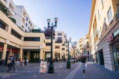 December 6, 2017 San Jose / CA / USA - Coffee shops and bars on a pedestrian street near the San Jose State University campus stock photo