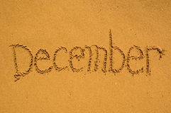 December in the sand Royalty Free Stock Photo