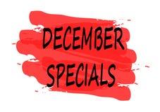 December specials banner. December specials  red banner Stock Photography