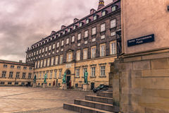 December 05, 2016: Statues at Bertel Thorvaldsens square in Cope Royalty Free Stock Photography