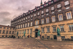 December 05, 2016: Statues at Bertel Thorvaldsens square in Cope Stock Photography