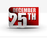 25 december sticker design Stock Images