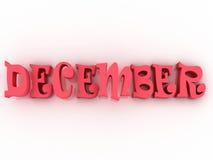 December-teken met kleur 3d document illustratie Royalty-vrije Stock Foto's