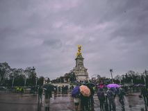 December 28th, 2017, London, England - Victoria Memorial, a monument to Queen Victoria. Located at the end of The Mall in London, and designed and executed by Stock Photos
