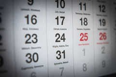December 24th. December 24 in the Polish calendar Royalty Free Stock Photography
