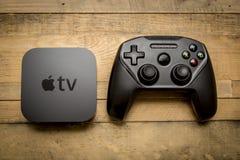 December 11, 2015. Toronto, Ontario, Canada. The new Apple TV 4t stock image