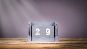 29 December träkalender i rörelse arkivfilmer